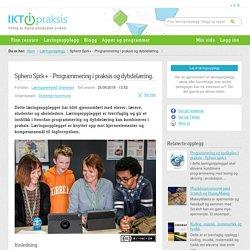 Sphero Sprk+ - Programmering i praksis og dybdelæring.