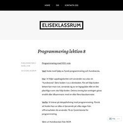 Programmering lektion 8 – eliseklassrum