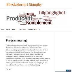 Programmering – Förskolorna i Stångby