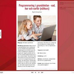 Programmering i grundskolan - vad, hur och varför (nätkurs) — Digital kompetens