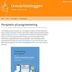 Perspektiv på programmering – Omvärldsbloggen