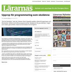 Upprop för programmering som skolämne