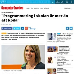 """""""Programmering i skolan är mer än att koda"""""""