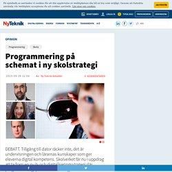 Programmering på schemat i ny skolstrategi