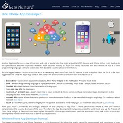 Hire iPhone App Developer and Programmers