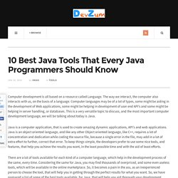 10 Best Java Tools That Every Java Programmers Should Know