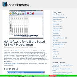 GUI Software for USBasp based USB AVR Programmers.