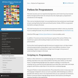 Python for Programmers — Python 3 Patterns, Recipes and Idioms