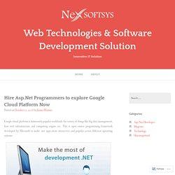 Google Cloud Platform for Asp.Net Programmers