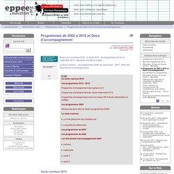 Programmes de 2002 à 2015 et Docs d'accompagnement