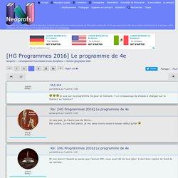 [HG Programmes 2016] Le programme de 4e - Page 7