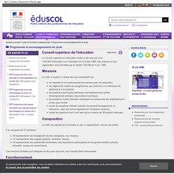 Programmes et accompagnements du lycée - Conseil supérieur de l'éducation