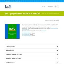 Bac - programmes, activités et annales