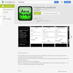 Programmes JavaScript