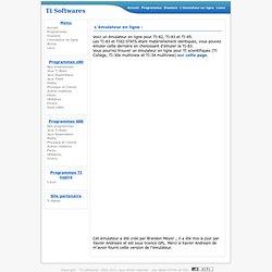 Ti Softwares : des programmes pour calculatrices TI-82, TI-83 (plus, plus.fr), TI-84 plus, TI-89 (Titanium), TI-92 plus et v200