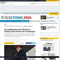 Les programmes de Clinton et Trump, deux visions de l'Amérique