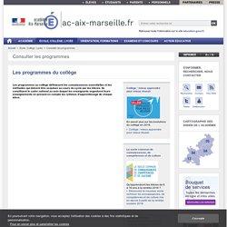 Les programmes du collège - ac-aix-marseille.fr