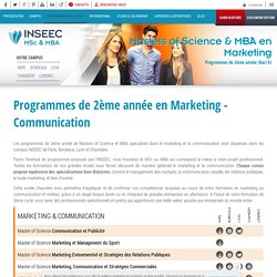 Programmes de MSc et MBA 2 en Marketing et Communication
