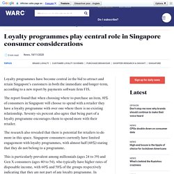 Loyalty programmes play central role in Singapore consumer considerations