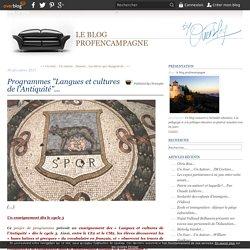 """Programmes """"Langues et cultures de l'Antiquité""""..."""