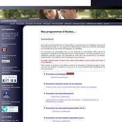 Programmes d'études