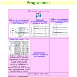 programmes de l'ecole maternelle