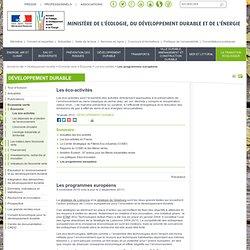 Aide pour les porteurs de projets : Les programmes européens pour le développement durable