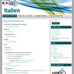 Programmes & Évaluation » Italien