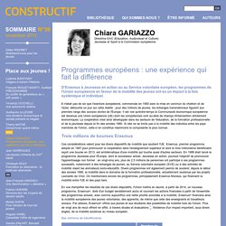 Programmes européens : une expérience qui fait la différence - 2013