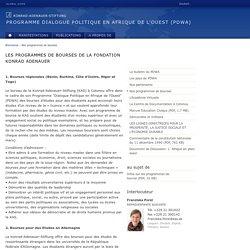 Les programmes de bourses de la Fondation Konrad Adenauer, Programme Dialogue Politique en Afrique de l'Ouest (PDWA), Konrad-Adenauer-Stiftung