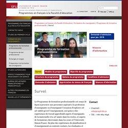 Survol - Programmes en français à la Faculté d'éducation