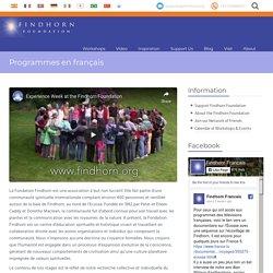 Programmes en Français - Findhorn Foundation