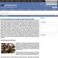 Les futurs programmes de français du lycée révélés par l'Afef