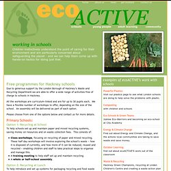 Free programmes for Hackney schools | ecoACTIVE