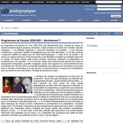 Programmes de français 2020-2021 : Harcèlement ?