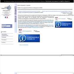 """""""COVID 19"""" et programmes d'Histoire, de Géographie et d'EMC"""