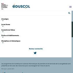 Programmes et ressources en numérique et sciences informatiques - voie GT