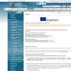 Erasmus + / Etudiants en programmes d'échanges / Venir à Paris Descartes / INTERNATIONAL / Accueil - Universite Paris Descartes