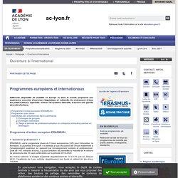 Programmes européens et internationaux - ac-lyon.fr