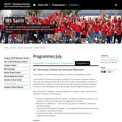 Programmes July