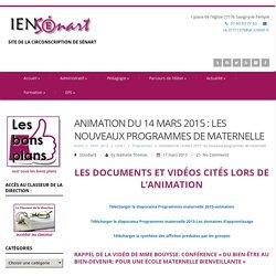 Animation du 14 mars 2015 : les nouveaux programmes de maternelle