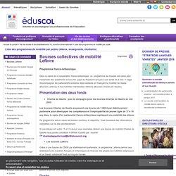Liste des programmes de mobilité par public - Bourses Lefèvre et Charles de Gaulle