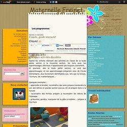 Les programmes - L'école, guide… - Quelques activités… - Guide à l'usage des… - Les programmes de… - Organisation de…