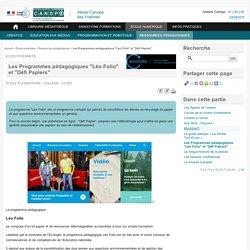 """Les Programmes pédagogiques """"Léo Folio"""" et """"Défi Papiers"""" - L'Atelier Canopé 78 – Marly-le-Roi"""