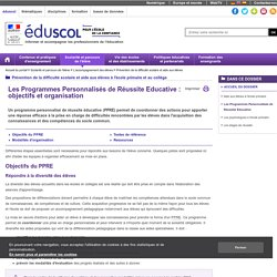 Programmes personnalisés de réussite éducative - PPRE