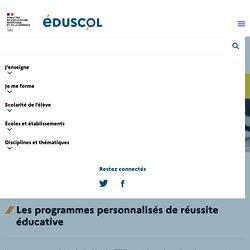 Les programmes personnalisés de réussite éducative