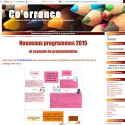 Nouveaux programmes 2015 et programmation