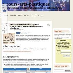Nouveaux programmes, 7 points pour préparer sa progression en arts plastiques