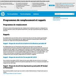 France Programmes de remplacement et rappels