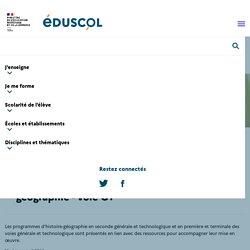 Programmes et ressources en histoire-géographie - voie GT